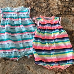 Cute Striped Crab and Butterfly Rompers
